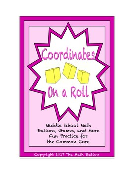 Common Core Math Stations and Games - On a Roll with Coordinates