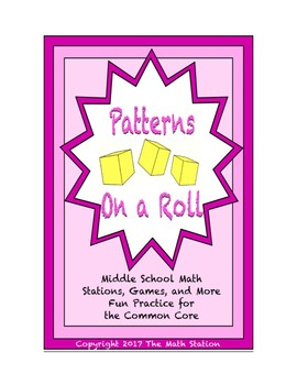 Common Core Math Stations and Games - On a Roll with Patterns