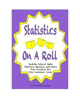 Common Core Math Stations and Games - On a Roll with Statistics