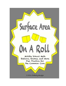 Common Core Math Stations and Games - On a Roll with Surface Area
