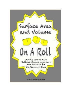 Common Core Math Stations and Games - On a Roll with Surface Area and Volume