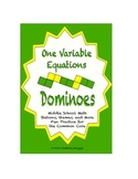 Common Core Math Stations and Games - One-Variable Equations Dominoes