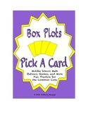 Common Core Math Stations and Games - Pick-a-Card Box-Plots