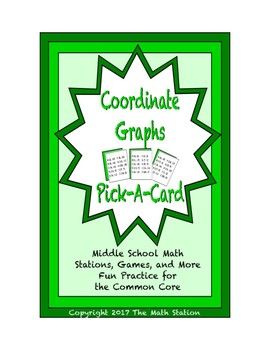 Common Core Math Stations and Games - Pick-a-Card - Coordinate Graphs
