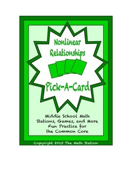 Common Core Math Stations and Games - Pick-a-Card - Nonlin