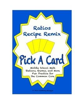 Common Core Math Stations and Games - Pick-a-Card Ratios R