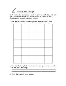Common Core Math Stations and Games - Pick-a-Card - Scale Drawings