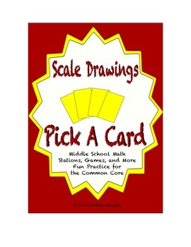 Common Core Math Stations and Games - Pick-a-Card - Scale