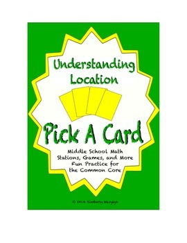 Common Core Math Stations and Games - Pick-a-Card Understanding Location