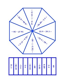 """Common Core Math Stations and Games - """"Poly-Problem-Solvers"""" Subtract Rationals"""