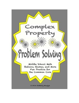 Common Core Math Stations and Games - Problem-Solving Comp