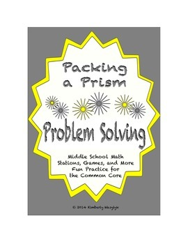 Common Core Math Stations and Games - Problem-Solving Packing a Prism