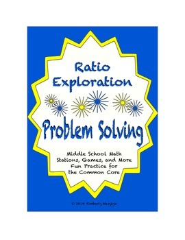 Common Core Math Stations and Games - Problem-Solving Ratios Exploration