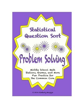 Common Core Math Stations and Games - Problem-Solving Stat