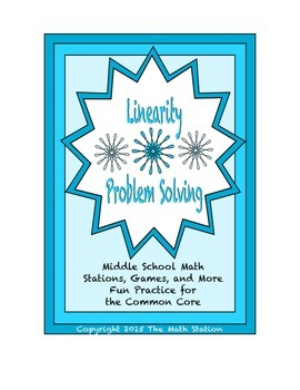 Common Core Math Stations and Games - Problem-Solving with Linearity