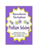 Common Core Math Stations and Games - Problem-Solving with Random Samples