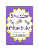 Common Core Math Stations and Games - Problem-Solving wih Simulation