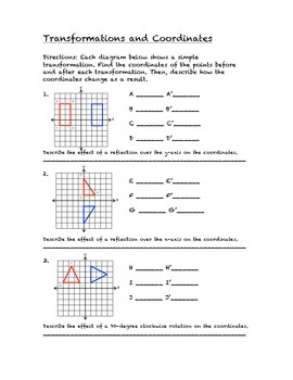 Common Core Math Stations and Games - Problem-Solving with Transformations