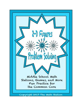 Common Core Math Stations and Games - Problem-Solving with 2-D Figures