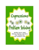Common Core Math Stations and Games - Problem-Solving with Expressions