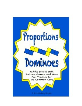 Common Core Math Stations and Games - Proportion Dominoes