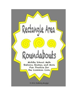 Common Core Math Stations and Games - Rectangle Area Roundabout