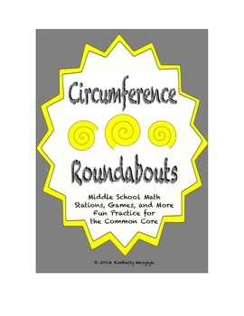 """Common Core Math Stations and Games - """"Roundabouts"""" Circumference"""