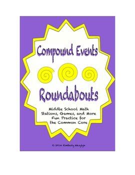 "Common Core Math Stations and Games - ""Roundabouts"" Compou"