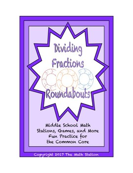 "Common Core Math Stations and Games - ""Roundabouts"" Dividi"