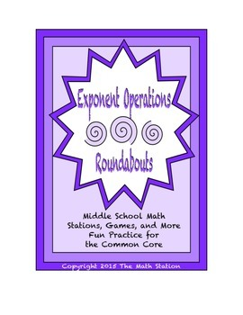 "Common Core Math Stations and Games - ""Roundabouts"" Expone"