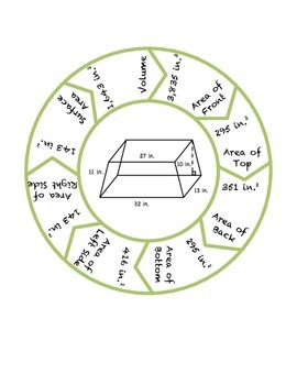 """Common Core Math Stations and Games - """"Roundabouts"""" Surface  Area & Volume"""