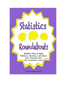 Common Core Math Stations and Games - Statistics Roundabout