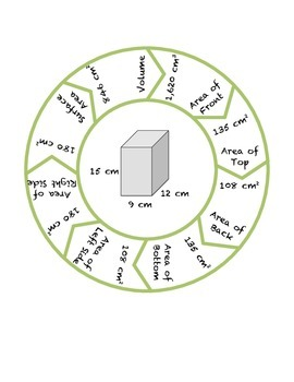 Common Core Math Stations and Games - Surface Area & Volume Roundabout