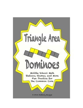 Common Core Math Stations and Games - Triangle Area Dominoes