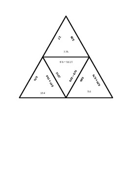 """Common Core Math Stations and Games - """"Triangler"""" Add & Subtract Decimals"""