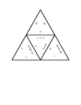 """Common Core Math Stations and Games - """"Triangler"""" Numerical Expressions"""