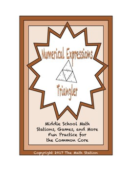 """Common Core Math Stations and Games - """"Triangler"""" Numerica"""