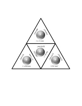 """Common Core Math Stations and Games - """"Triangler"""" Sphere Volume"""