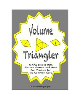 Common Core Math Stations and Games - Volume Triangler