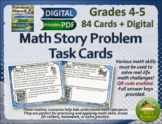 Math Word Problem Challenges Task Cards Distance Learning