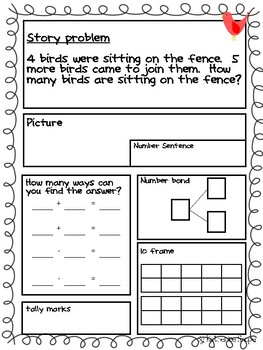 Common Core Math Story Problems