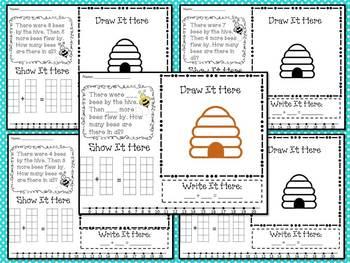 Common Core Math Story Problems Set 1, K/1st grade, 45 pages