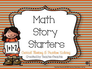 Common Core Math Story Starters #1