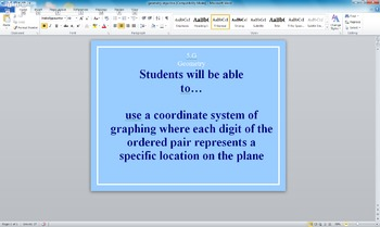 Common Core Math Student Objectives Grade 5