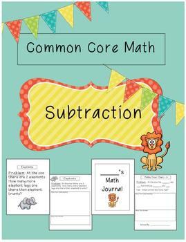 Common Core Math Unit- Subtraction {word problems}
