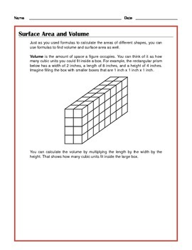 Common Core Math: Surface Area and Volume - Tutorial and Practice