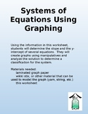Common Core Math: Systems of Equations using Graphing