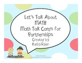 Common Core Math Talk Cards for Partnerships
