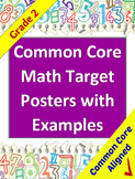 Common Core Math Target Posters with Example Illustrations