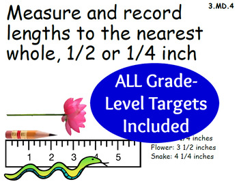 Common Core Math Target Posters with Example Illustrations for 3rd Grade